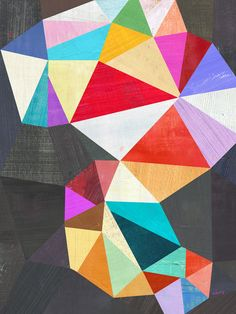 print of mixed media collage by Melanie Mikecz http://www.etsy.com/shop/twoems  #geometric #pattern