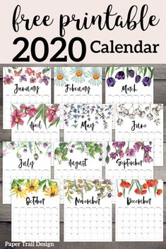 Watercolor flower design calendar pages f… 2020 Free Printable Calendar – Floral. Watercolor flower design calendar pages for a office or home calendar for work or family organization. Printable Calendar 2020, Free Printable Calendar, Calendar Ideas, Bullet Journal Free Printables, Free Monthly Calendar, Work Calendar, Calendar Journal, Calendar Pictures, Monthly Planner Printable