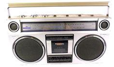 VTG 80s PANASONIC RX-5025 RADIO CASSETTE PLAYER STEREO GHETTOBLASTER BOOMBOX #Panasonic