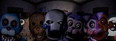 five nights at candy's all the animotronics and one from FNAF 2