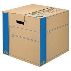 Bankers Box SmoothMove Moving/Storage Box, Extra Strength, Medium, 18w x 18d x 16h, Kraft, Brown