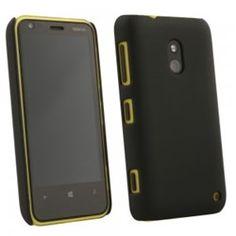 Nokia Lumia 620 Compatible Rubberized Protective Cover - Black - $7.95