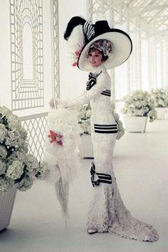Audrey Hepburn in My Fair Lady, costume design by Cecil Beaton My Fair Lady, Audrey Hepburn Photos, Audrey Hepburn Style, Hollywood Glamour, Classic Hollywood, Crazy Cat Lady, Portrait Photos, Retro Fashion, Vintage Fashion
