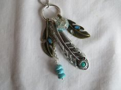 25 Feather Charm Necklace on Ball Chain by LinsFinalTouch on Etsy