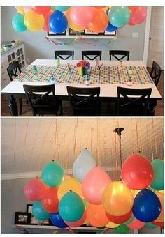 Upside down Balloons for parties *no helium tank required*