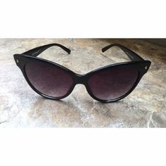 Aj Morgan stylish sunglasses Sunglasses have dark purple lenses. Sunglasses have a few very small scratches on them and are really unnoticeable unless you search for them. In great condition and super cute ! AJ Morgan Accessories Sunglasses