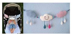"""... diese selbstgemachte Kinderwagenkette ist ein Unikat! Häkel es für dein Baby, als Geschenk für das Baby von Freunden, etc. Du benötigst: -Häkelgarn:ca. je 25 g in rosa und helblau, 30g in Weiß, Reste in Schwarz, Pink, Schwarz und Petrol (100% Baumwolle, LL125m/50g) -Häkelnadel Nr. 2,5 -16 Perlen ø 1 cm -2 Metallclips -Füllwatte -Nähnadel zum Vernähen -Schere Gehäkelte Einzelstücke dürfen bis zu einer Menge von 10 Stück verkauft werden. Hierzu immer auf mich verweisen: """"gehäkelt nach dem…"""