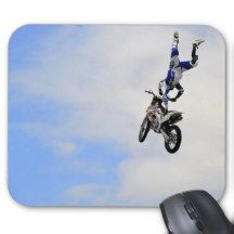 Motorcycle Jump Stunt Mouse Pad