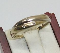 Vintage Ringe - Damen Goldring585 Diamant Brillant 17,2 Ring GR104 - ein…