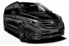 Mercedes V Class Black Crystal will be revealed at the Geneva Motor Show. Its interior is inspired from a private jet. Mercedes Benz Vans, Mercedes Van, Mercedes W124, Bmw, Auto Motor Sport, Der Bus, Cool Vans, Geneva Motor Show, Limousine