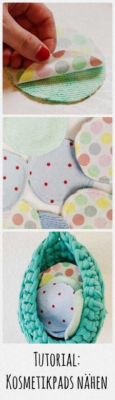Tutorial: waschbare Abschminkpads nähen / How to sew cosmetic pads - Eda Lindgren