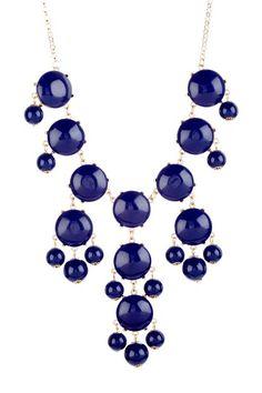 tPlus jDesign Cobalt Blue Bubble Dots Necklace