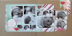 Glad You Exist - multiple photo baby scrapbook layout - baby scrapbook page with lots of photos