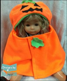 A personal favorite from my Etsy shop https://www.etsy.com/listing/250547237/pumpkin-baby-capelet-costume