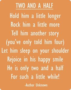 My little Frazier is just about two and a half so this speaks to me!  Little boys are beautiful.