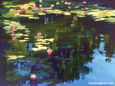 Image result for pond painting