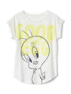 Gap Girls Gapkids | Looney Tunes Graphic Cap Tee New Off White Size XXL
