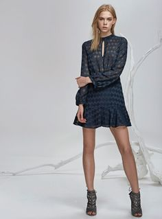 Finders Keepers Ascot L/S Dress – Charcoal
