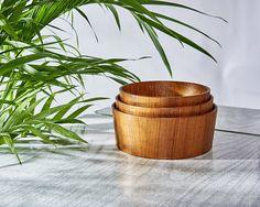 Mid Century Modern Bent Wood Teak Nesting/Stacking Bowls