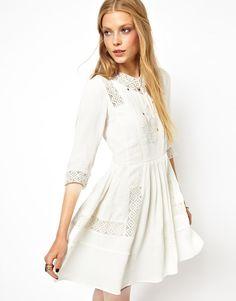 Sweet white dress.