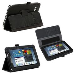 Poetic Slimbook Leather Case for Samsung Galaxy Tab 2 7.0 Black(Included 2 Micro SD Card Slots) (Business Card Holder is Plus) (3 Year Manufacturer Warranty From Poetic) --- http://www.amazon.com/Poetic-Slimbook-Included-Business-Manufacturer/dp/B007YUISN0/?tag=757stuff00-20