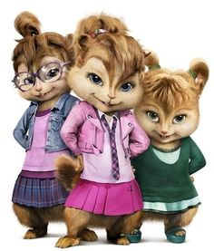 The Chipettes are a fictional group of female singing chipmunks (Brittany, Jeanette, and Eleanor)!