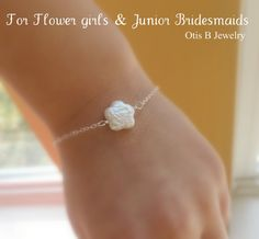 """Flower girls = my daughters...gift card will read """"I'm such a lucky bride to have my best girls by my side"""""""