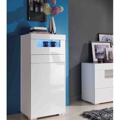 Are you looking for a #sideboard that gives more and occupies less? You have your choice of #furniture in the form of Lazy entertainment sideboard that comes in high gloss white finish.