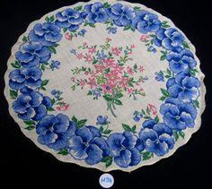 Vintage Hanky Floral Print Handkerchief by GrannysBottomDrawer