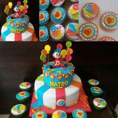 Torta, cupcakes y galletas de Payasito Plim Plim