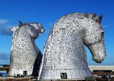 Los Kelpies: los caballos gigantes de Falkirk, Escocia