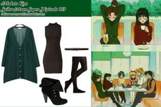 Like Sailor Moon Outfits on Facebook!  Requested by: jaknel  Forever 21 ribbed knit tights in Black Cole Haan enamel dressy belt in Black Patent ModCloth Tights For Every Occasion in Black Mia Duke Shootie in Black Suede Stylementor sheer long cardigan in Green