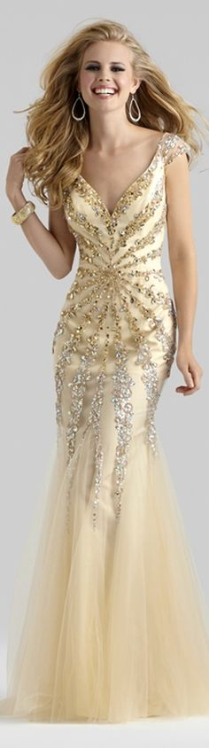 Silver & Gold Gown jaglady #promdress http://www.wedding-dressuk.co.uk/prom-dresses-uk63_1