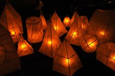 48 Superb Diy Paper Lanterns Design Ideas For Winter Projects - The last term of the year is always full of merry making activities. Soon after the Halloween holiday passes, Christmas will come. Some countries have. Outdoor Decorative Lights, White Paper Lanterns, Lantern Designs, Winter Light, Light Art, Christmas Art, Diy Paper, Creations, Solstice Festival