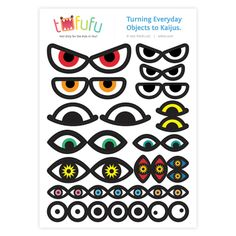 printable monster eyes for art | Tofufu Monster-Kaiju Eyes Sticker Set ...