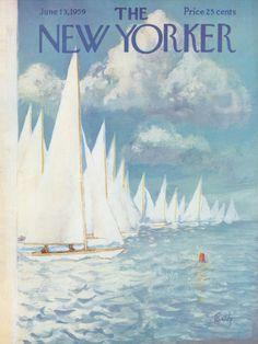 Arthur Getz : Cover art for The New Yorker 1791 - 13 June 1959