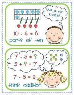 Number and Algebra, Subtraction - Subtraction Strategy Sort Subtraction Strategies, Math Subtraction, Math Strategies, Math Resources, Math Activities, Love Math, Fun Math, Maths, School Fun