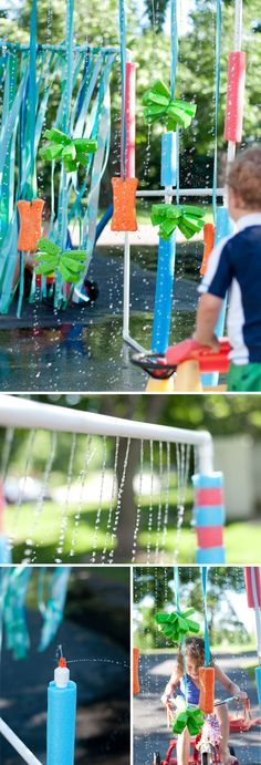 DIY: The BEST Tricycle Carwash. Follow these easy plans and have the coolest summer ever!  |  Design Mom