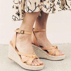 0cf558b8d7a3 Women Peep Toe Magic Tape Wedges Crossed Sandals