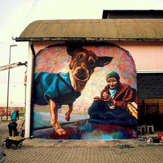 Awesome Street art by El Marian, Argentina.