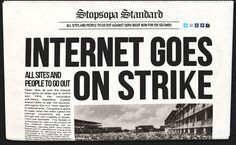 Internet Goes on Strike.  Pinterest may not exist with SOPA in place.