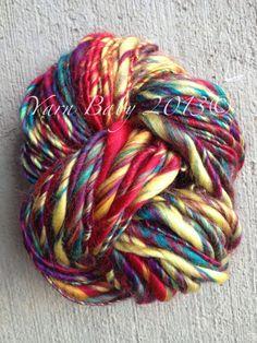 Handspun yarn acrylic sportworsted weight Carnival by MyYarnBaby, $17.50