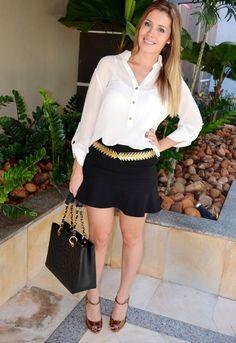 camisa e cinto Le Lis Blanc | blog divadamoda.com.br