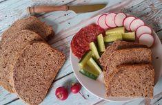 Teljes kiőrlésű, diétás lenmagos kenyér recept Cornbread, Banana Bread, Healthy Recipes, Healthy Food, Ethnic Recipes, Desserts, March 6, Free, Vegetable Salad