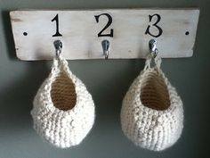 Crocheted Hanging Basket:need my friend jessi to make me some :]