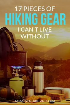 My list of hiking gear must-haves as a hiking nut and former backpacking guide! - My list of hiking gear must-haves as a hiking nut and former backpacking guide! Here are 17 essenti - Camping Snacks, Camping List, Camping Checklist, Camping And Hiking, Camping Gear, Outdoor Camping, Camping Guide, Camping Outfits, Camping Chairs