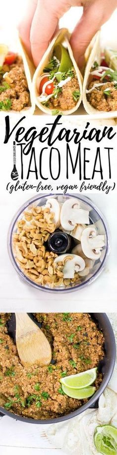 Vegetarian Taco Meat recipe imitates the food we love without the meat or the higher price tag. A win win for taco lovers! (Gluten-Free, Dairy-Free, Vegan, Low-Sugar)