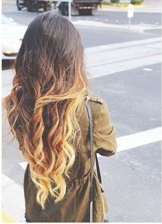 Had straight hair, but after getting this cool ombre effect, curls just felt more appropriate.
