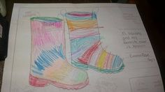 Emma Rose (age I like getting muddy because.it's squishy and my favorite color is brown' My Favorite Color, My Favorite Things, Emma Rose, Design Competitions, Rain Boots, Age, Dolls, Brown, Baby Dolls