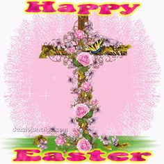"""""""Happy EASTER"""" -- Sparkling Graphic _____________________________ Reposted by Dr. Veronica Lee, DNP (Depew/Buffalo, NY, US)"""